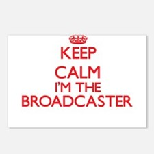 Keep calm I'm the Broadca Postcards (Package of 8)