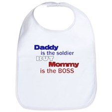 Cute Army baby for daddy Bib