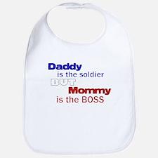 Cute Army humor Bib