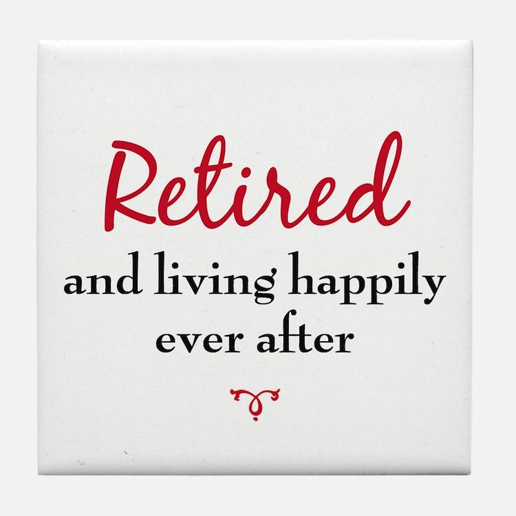 Retirement Tile Coaster