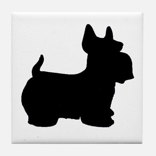SCOTTY DOG Tile Coaster