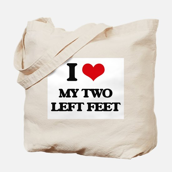 my two left feet Tote Bag