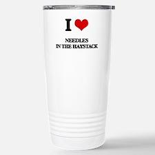 needles in the haystack Travel Mug