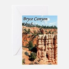 Bryce Canyon, Utah, USA (with capti Greeting Cards