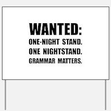 Nightstand Grammar Yard Sign