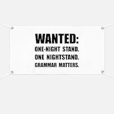 Nightstand Grammar Banner