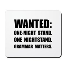 Nightstand Grammar Mousepad