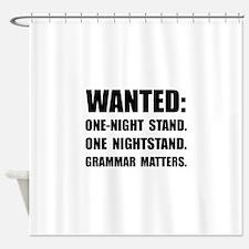 Nightstand Grammar Shower Curtain
