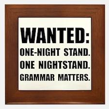 Nightstand Grammar Framed Tile