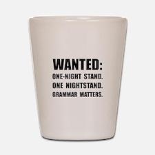 Nightstand Grammar Shot Glass