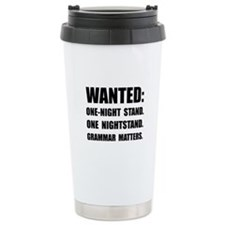 Nightstand Grammar Travel Mug