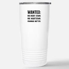 Nightstand Grammar Travel Mug