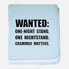 Nightstand Grammar baby blanket