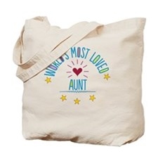 World's Most Loved Aunt Tote Bag