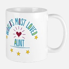 World's Most Loved Aunt Mug