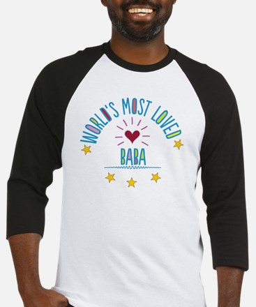 World's Most Loved Baba Baseball Jersey
