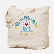 World's Most Loved Auntie Tote Bag