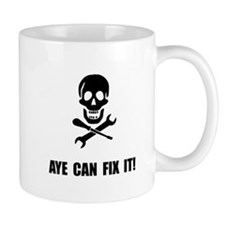 Pirate Fix It Skull Mugs