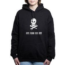 Pirate Fix It Skull Women's Hooded Sweatshirt