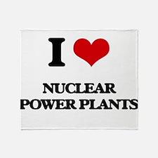 nuclear power plants Throw Blanket