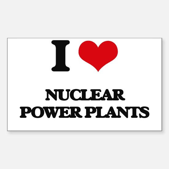 nuclear power plants Decal