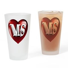 The Great State of Mississippi Hear Drinking Glass
