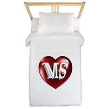 The Great State of Mississippi Heart Twin Duvet