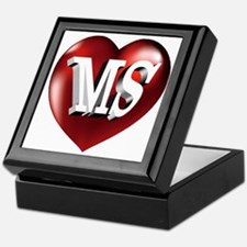 The Great State of Mississippi Heart Keepsake Box