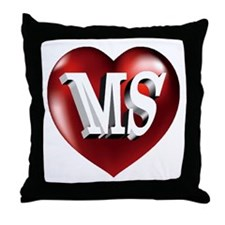 The Great State of Mississippi Heart Throw Pillow
