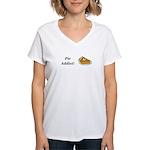 Pie Addict Women's V-Neck T-Shirt