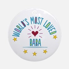 World's Most Loved Baba Ornament (Round)