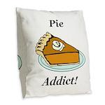 Pie Addict Burlap Throw Pillow