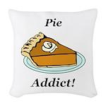 Pie Addict Woven Throw Pillow
