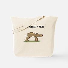 Custom Bear Tiptoeing Tote Bag