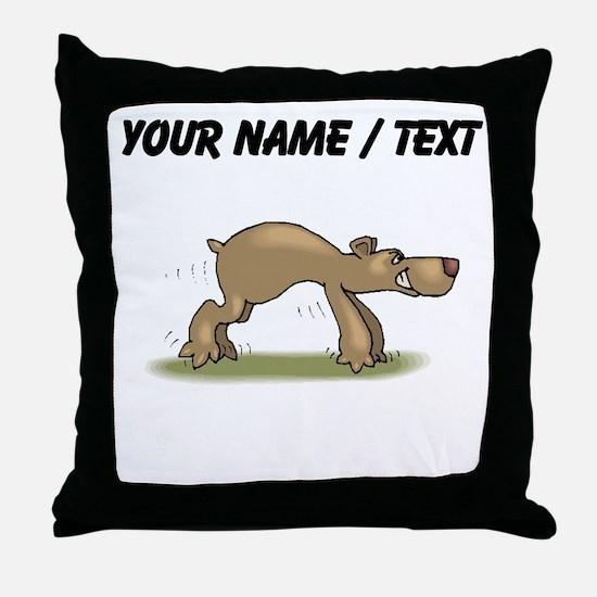 Custom Bear Tiptoeing Throw Pillow