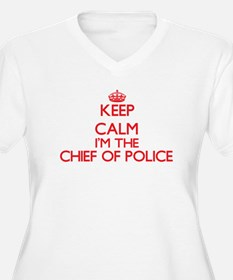 Keep calm I'm the Chief Of Polic Plus Size T-Shirt