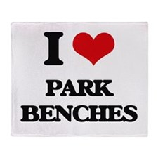 park benches Throw Blanket