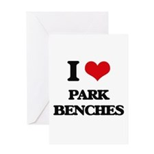 park benches Greeting Cards
