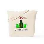 I Love Green Beer Tote Bag