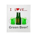 I Love Green Beer Throw Blanket
