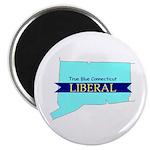 True Blue Connecticut LIBERAL Magnet