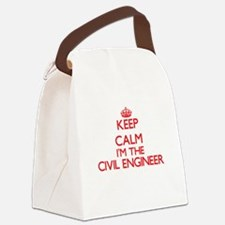 Keep calm I'm the Civil Engineer Canvas Lunch Bag