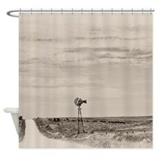 Unique Windmill Shower Curtain