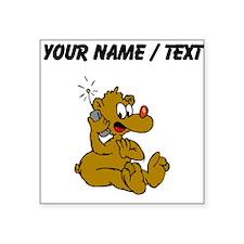 Custom Bear On Phone Sticker