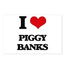 piggy banks Postcards (Package of 8)