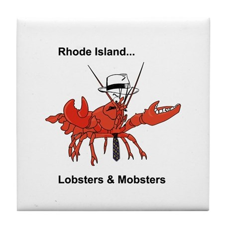 Rhode Island - Lobster and Mobsters Tile Coaster