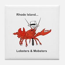 Rhode Island - Lobster and Mobsters Tile Coaster