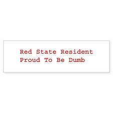 Red State Bumper Bumper Sticker