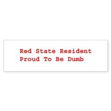 Red State Bumper Bumper Stickers