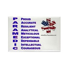 This Is A Paramedic Rectangle Magnet